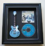 OASIS - Definitely Maybe CD & MINIATURE GUITAR